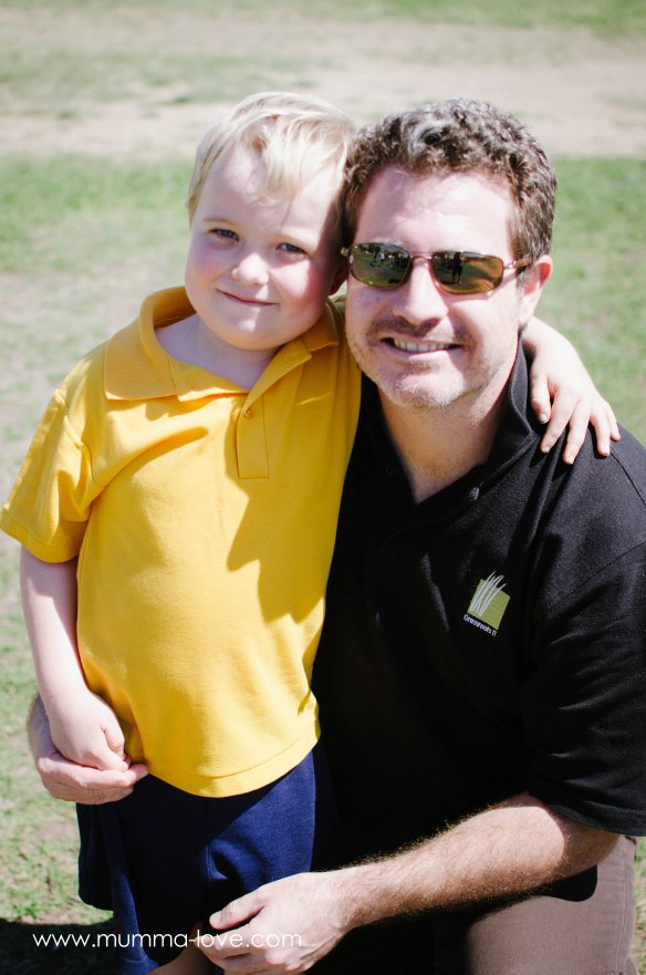 September 2014, with Dad after the sports carnival